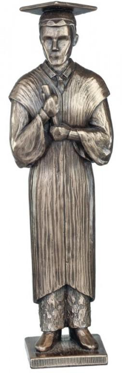 Photo of Graduation Bronze Figurine Male