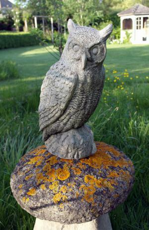 Photo of Great Horned Owl Stone Statue