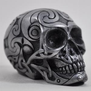 Photo of Gun Metal Celtic Design Small Skull