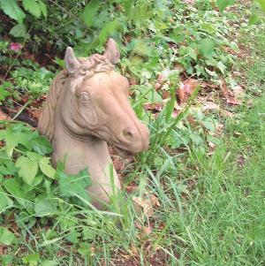 Photo of Horse Head Stone Sculpture