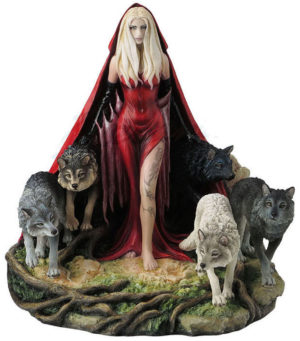 Photo of Howl Scarlet Lady and Wolves Figurine 23cm (Ruth Thompson)