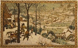 Phot of Hunting In The Snow By Pieter Bruegel Wall Tapestry