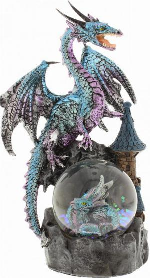 Photo of Ice Blue Mystic Legends Dragon on Waterglobe (Juliana)