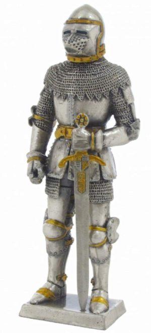 Photo of Knight in Bascinet Helmet Pewter Figurine