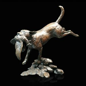 Photo of Labrador Retrieving Bronze Figurine Large (Limited Edition) Michael Simpson