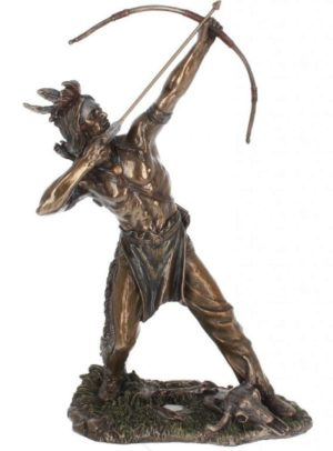 Photo of Native American Hunter Bronze Figurine 32cm
