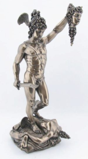 Photo of Perseus Holding the head of Medusa Bronze Figurine 34cm