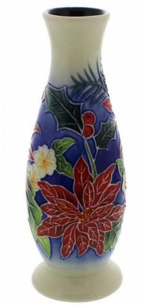 Photo of Poinsettia Pattern Vase 6 inches tall (Old Tupton Ware)