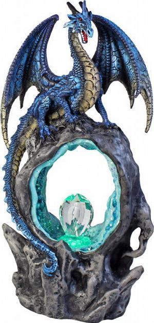 Photo of Portal of Ice Dragon Figurine Crystal Light Feature 27cm