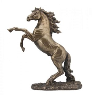 Photo of Rearing Horse Bronze Figurine 32 cm