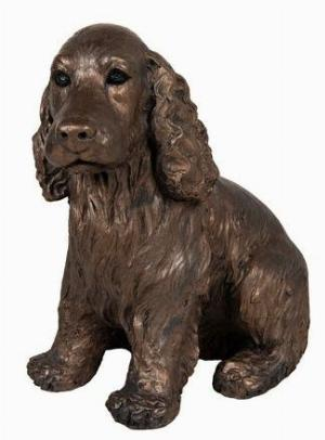 Photo of Ruby Cocker Spaniel Bronze Figurine Adrian Tinsley