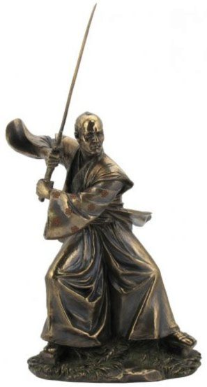 Photo of Samurai Training Bronze Figurine 31 cm