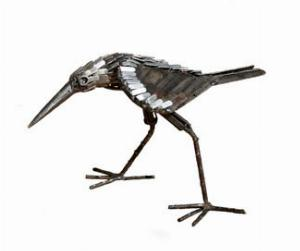 Photo of Sandpiper Bird Metal Garden Ornament (Pecking)
