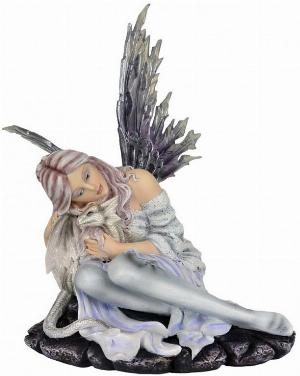 Photo of Snow Fairy and Wisdom Dragon Figurine 31cm