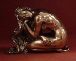 Photo of Solitude Female Nude Bronze Figurine