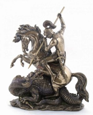Photo of St George and the Dragon Bronze Figurine