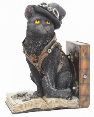 Photo of Steampunk Cat Bookend Figurine