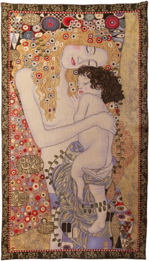 Phot of The 3 Ages By Gustav Klimt Wall Tapestry