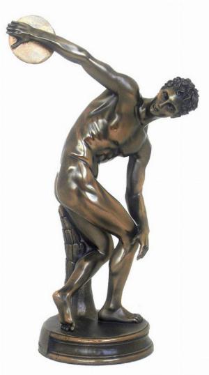Photo of The Discobolus of Myron Bronze Figurine