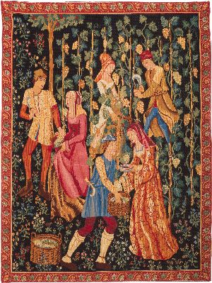 Phot of The Picking Grape Harvest Wall Tapestry