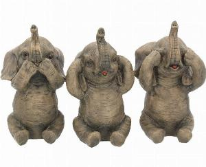 Photo of Three Wise Elephants Set of 3 Figurines 16 cm