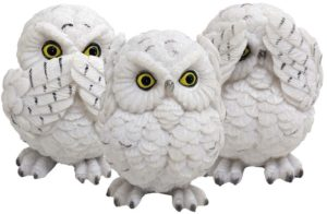 Photo of Three Wise Owls Figurine 8cm (Set of 3)
