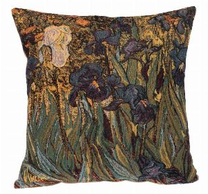 Phot of Van Gogh Irises Tapestry Cushion 2