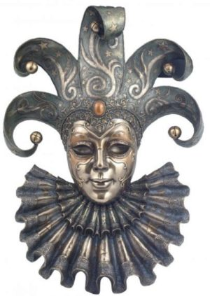 Photo of Venetian Mask Jester (Genesis Fine Arts) Large 50 cm
