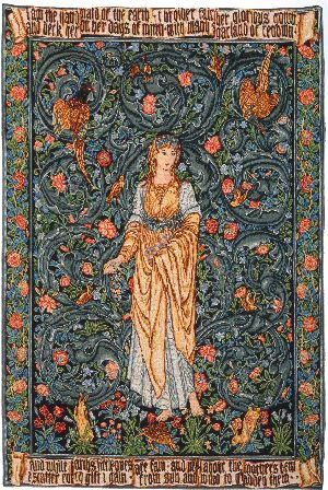 Phot of William Morris Flora Wall Tapestry