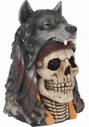 Photo of Wolf Spirit Skull Ornament 23cm