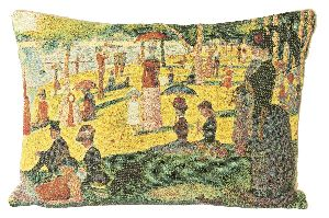 Phot of A Sunday Afternoon On The Island Of La Grande Jatte By Georges Seurat Tapestry Cushion Iii