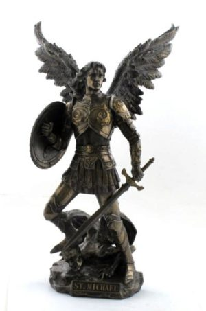 Photo of Archangel Michael Bronze Figurine 33cm