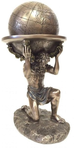 Photo of Atlas Burden Bronze Figurine 24cm
