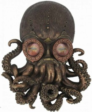 Photo of Bioctopus Steampunk Wall Plaque Figurine 34cm Large