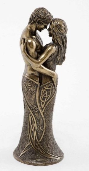 Photo of Celtic Lovers Bronze Sculpture 28 cm