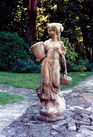 Photo of Country Girl Stone Statue (Large)