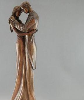 Photo of Couple in Love Bronze Figurine 35cm