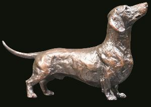 Photo of Dachshund Bronze Figurine (Limited Edition) Michael Simpson