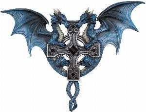 Photo of Dragon Duo Wall Plaque (Anne Stokes) 34cm