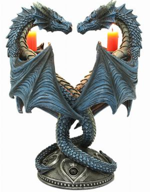 Photo of Dragon Heart Twin Candle Stick (Anne Stokes)