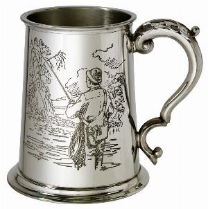 Photo of Fishing Scene Pewter Tankard