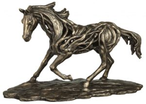 Photo of Free Spirit Contemporary Bronze Horse Figurine Large 50cm