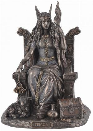 Photo of Frigga Goddess Bronze Figurine