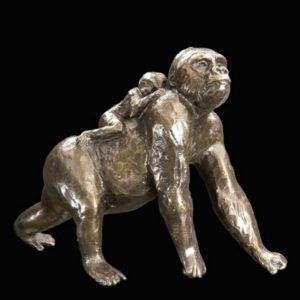 Photo of Gorilla with Baby Bronze Figurine (Limited Edition) Michael Simpson
