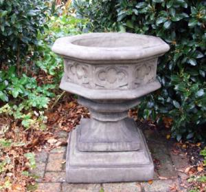 Photo of Gothic Font Stone Planter