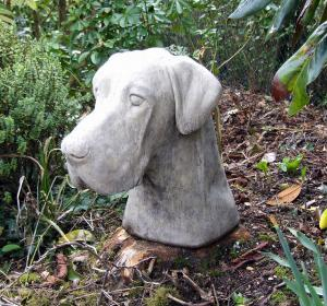 Photo of Great Dane Dog Stone Head Sculpture