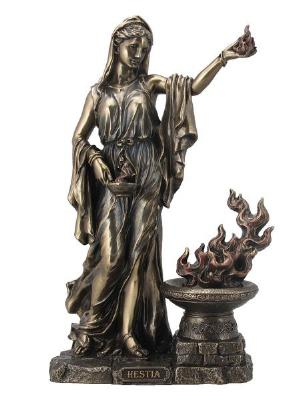 Photo of Hestia Virgin Goddess Bronze Figurine