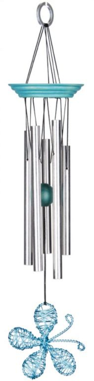 Photo of Isabelles Dancing Butterfly - Aqua Wind Chime (Woodstock)