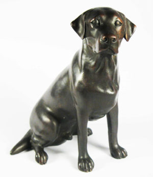 Photo of Labrador Bronze Figurine