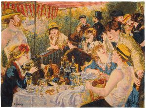 Phot of Luncheon Of The Boating Party By Pierre-Auguste Renoir Wall Tapestry